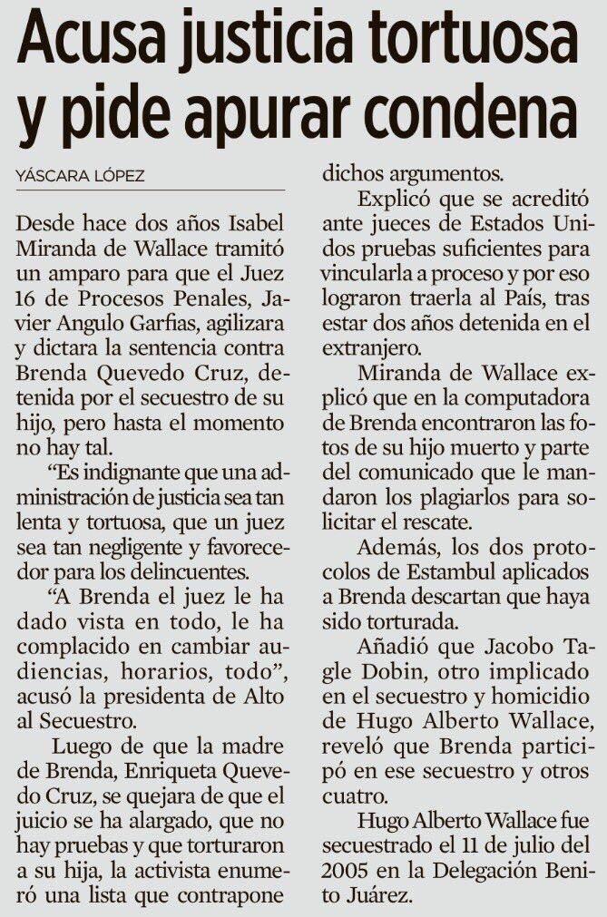 Artículo de Yáscara López, publicado en la edición del 13 de febrero de 2016 del periódico Reforma.